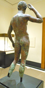 Victorious Youth, c. 300-100 B.C., bronze. The Getty Villa, The J. Paul Getty Museum, Los Angeles