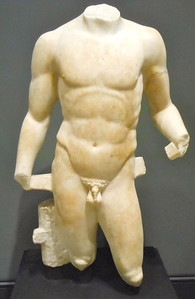 Torso of an Athlete in the Getty Villa
