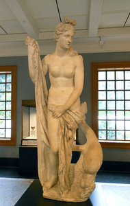 Statue of the Mazarin Venus (2nd Cent) is an example of Goddess images in the Getty Villa permanent exhibit.
