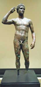 Victorious Youth Greek 300-100 BC Bronze