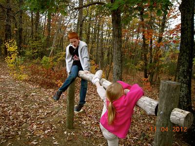 """Ashley getting a """"leg up""""........."""