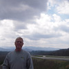 Larry with NC Mountains in background
