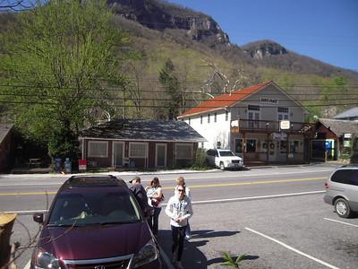 Arriving at Chimney Rock Village