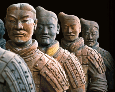 Terracotta Warriors - Discovery Times Square Museum, NYC - Aug 2012