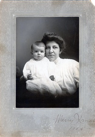 Emily VanCleve with daughter Charlotte who would later marry James T. Lacey, MD and continue the  Lacey Family as shown in this Family Photo Gallery.
