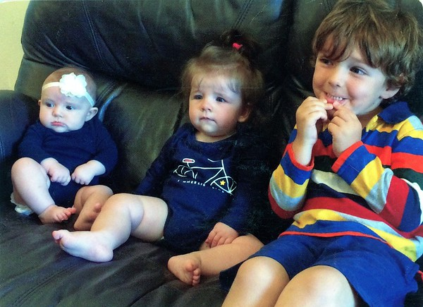 Our Great-Grandchildren, L-to-R: Elizabeth Montgomery Lacey, Hilary Wing Hampstead, Cyrus Harvey Lacey - photo Spring 2017
