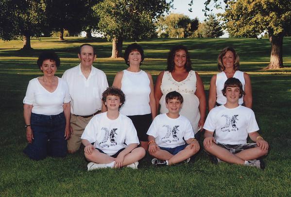 Joan [Lacey] Tallman Family: Rear -L-->R Joan & Dick Tallman; Lynn Furr; Jane Tallman; Lisa Helmle<br /> Front: - L-->R Anthony Furr; Tyler Helmle; Josef Helmle