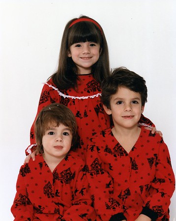 Young Ryan (rear), Randy (left) and Rory Lacey. Children of Frank and Donna Lacey - pajamas by Donna Lacey.