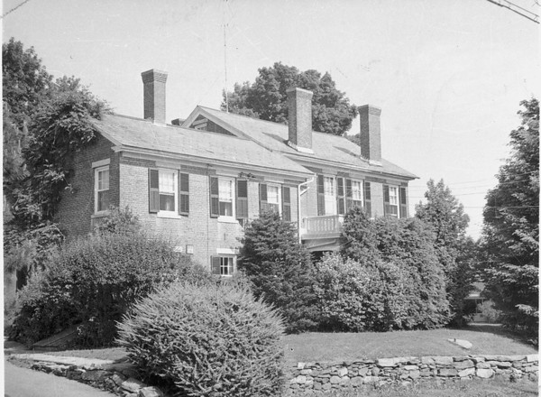 Famiily Home at 313 South Street, Southbridge, MA. Built in the 1840's, only 3 families have lived here. The house was been expanded in the 1930's to include a two story 3-car garage with 5 rooms above and two bathrooms in the original part. The Dr. Jmes T.  Lacey family lived there from 1932 until 1954. Note the TV antenna at top center of photo - there were only 3 (all VHF) TV stations available in the early 1950's<br /> <br /> Known as the Judson-Litchfield House, it was built in 1835 and added to the National Register of Historic Places (#89000539) in 1989.