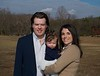 John Paul and Ryan Hampstead with daughter Hilary. Hilary is a great-grandaughter of Jim and Mary Lacey.