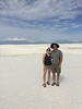 Hannah Jones and Randy Lacey at White Sands National Monument, Alamogordo NM, USA - July 2017