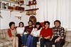Lacey Family at Westford MA home circa 1985. L>R: Mary, Debbie Rossi, Jim Lacey IV, Donna Lacey & Rory, Frank Lacey, Jim Lacey III