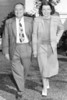 Dr. and Mrs. James T. Lacey in Bermuda, February 1948. They were awakened for an early photo by a Worcester MA, Telegram and Gazette photographer.