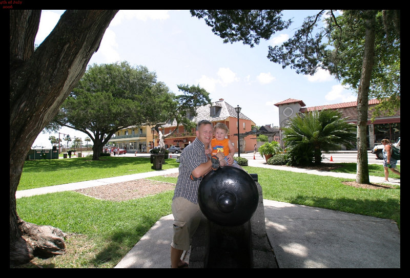 """Me & Hunter 4th of July 2006   St Augustine Florida   """"2 old cannons"""""""