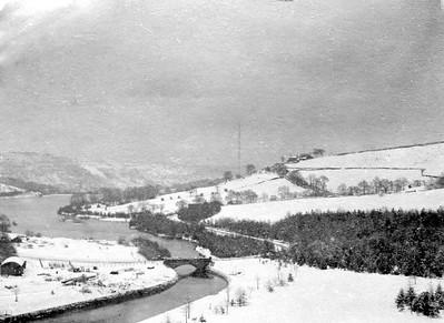 Broom head Reservoir and Broomhead Moor - view from  Ewden Valley