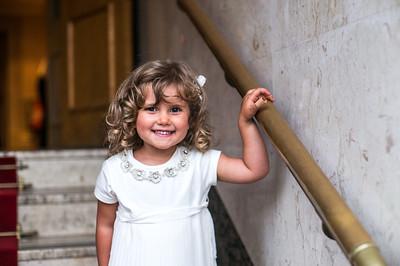 Headshot of Italian girl at wedding in Hendon