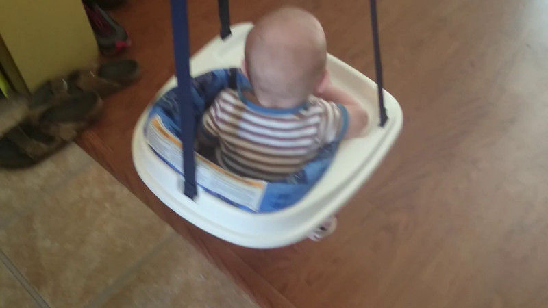 Hunter's New Bouncy Seat