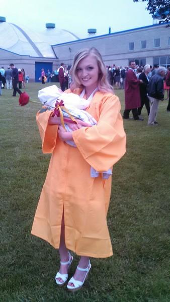 Destiny and Hunter at Graduation