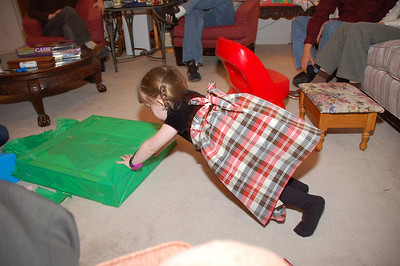 Ainsley was also in charge of distributing all presents to the appropriate recipients.