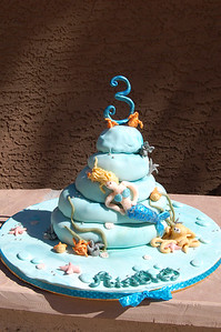 Ainsley's third birthday cake.  Inspiration from Debbie Brown's Enchanted Cakes book.