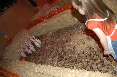 Woooo for pumpkin bowling!