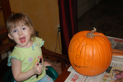 Ainsley made her pumpkin design ENTIRELY on her own.
