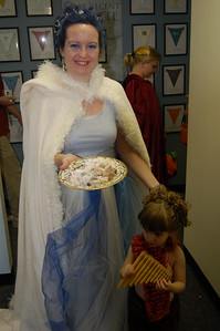 And I, of course, am the White Witch, complete with Turkish delight.