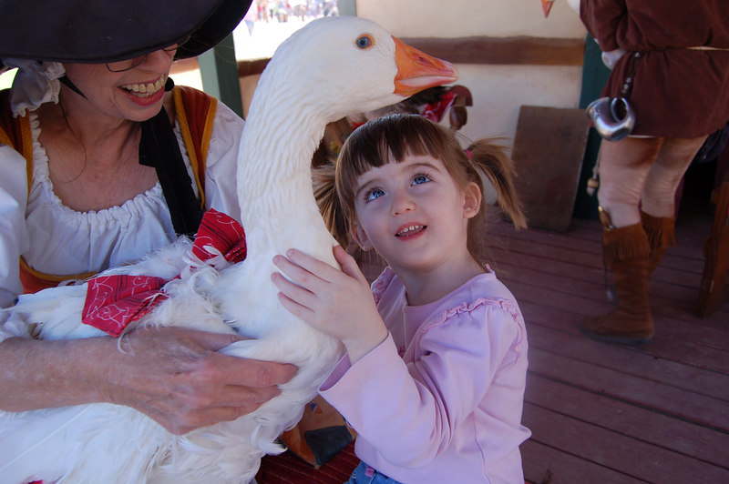 Meeting Mother Goose at the Ren Fair.  Saturday, Feb 17, 2006.