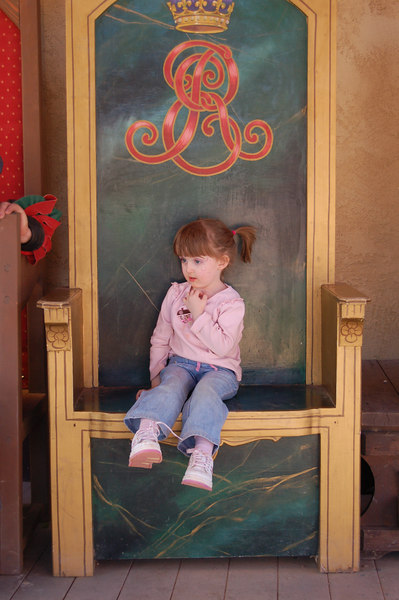 The Queen's chair is an excellent place to rest.