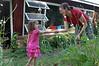 Ainsley helped Meredith garden.