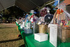The table of truly amazing raffle baskets.