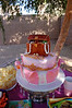 Ainsley's Madeline-Dora the explorer-Pirate-Princess-Pink party was more than I could represent in one cake, but I pulled off the pirate-princess part!  All edible, except for the Swarovski crystals dangling off the gumpaste petals on the bottom tier.