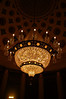 A massive chandelier bought at auction for $1,500.