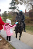 We met a mounted police man!  Ainsley thought that was the highlight of the day.