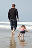 """We spent some time playing on the beach in San Diego on Saturday morning.  Ainsley declared that she wants to live on the beach """"all day, every day!"""""""