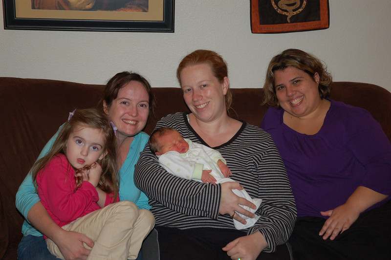We stopped in for a quick visit at Eva's house to meet baby Cate.  It was so much fun to catch up with Eva and Beck, brief though the visit may have been!