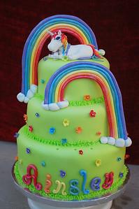 Ainsley asked for a Rainbow Unicorn birthday party.
