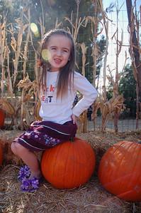 Ainsley found her perfect pumpkin!
