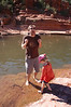 Drew doesn't like the temperature of the water any more than his first visit to Slide Rock.
