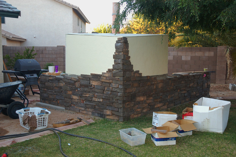 A bit more stone work.  New baby is due in about 6 weeks, so it's extra slow going, but I'm getting there.