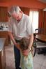 Giving a thank-you hug to Papa Wills.