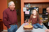 Grandpa Wills' birthday was the day before Easter.  Ainsley offered to help him blow out his candles.