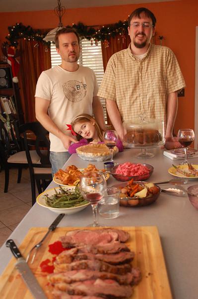 Our Christmas dinner.