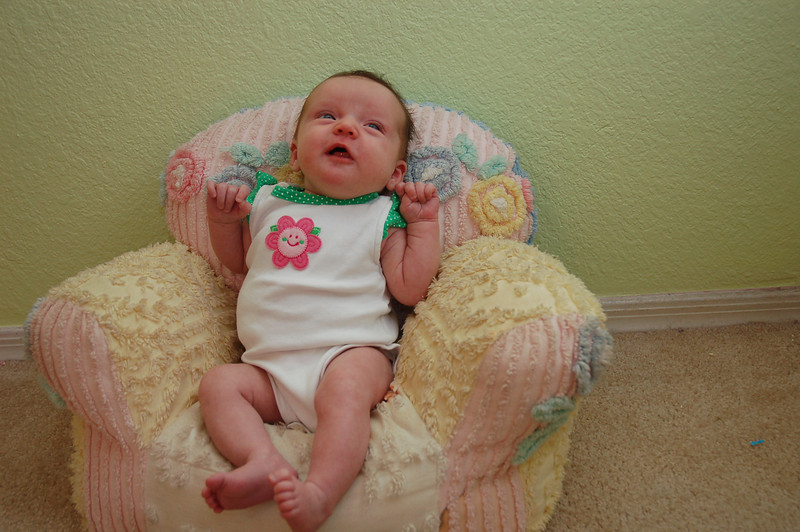 Niamh at four weeks.
