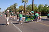 Marching down 3rd street in downtown Phoenix.