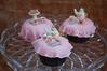 Tiny tiny tea party cupcakes!  All gumpaste decorations.