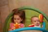 Ainsley and Niamh, both enjoying the play mat.