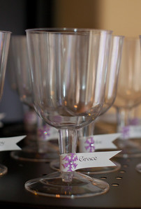 The girls felt very fancy having stemware (even if it was plastic).  Most kids wanted to take the cups home, they liked them so much, in fact!