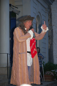 A pirate standing for the Mock Mayoral election.