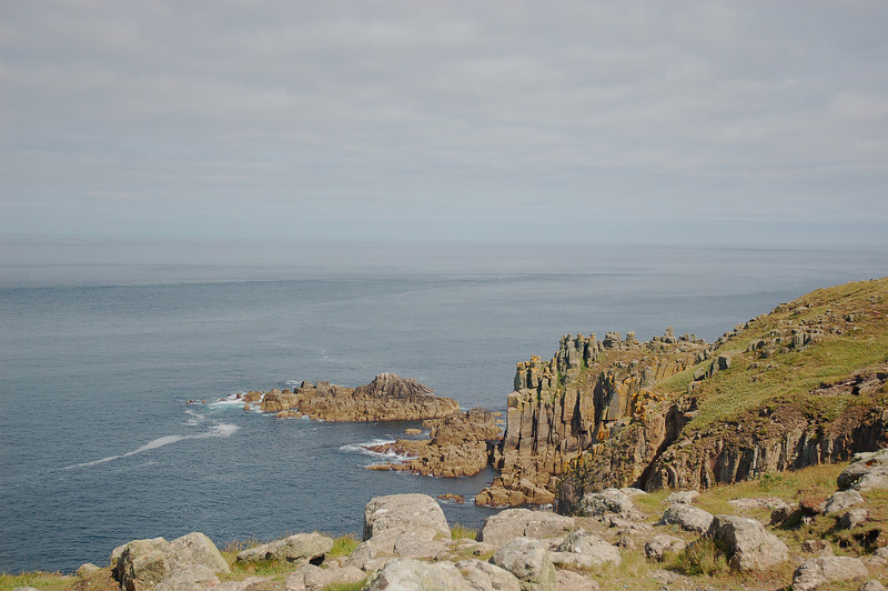 Land's End, the westernmost tip of England, and the point from which Drew's ancestors set sail for America.